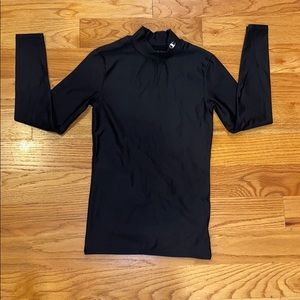 Champion black long sleeve cold weather shirt